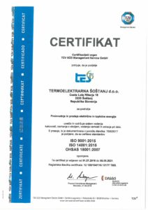 obtained Quality Management Certificate 14001