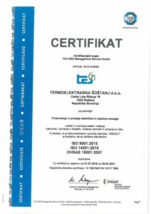 obtained Quality Management Certificate 18001